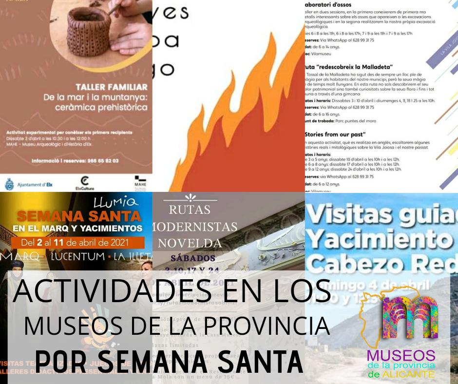 ACTIVIDADES EN LOS MUSEOS DE LA PROVINCIA POR SEMANA SANTA